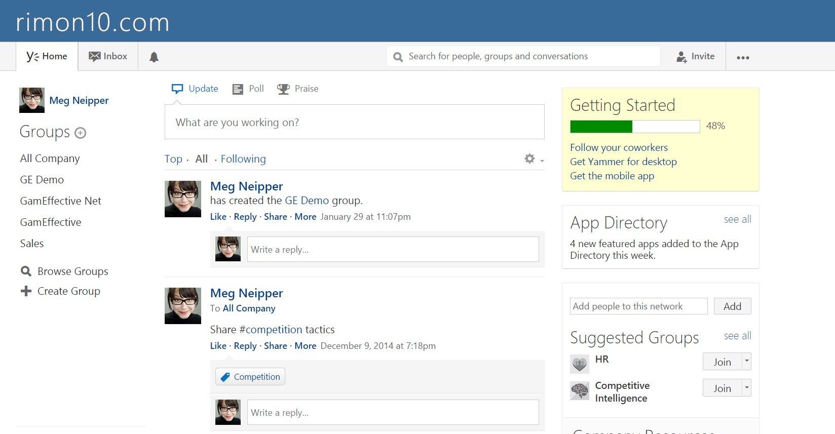 yammer gamification by gameffective